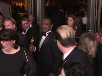 AP video appears to show man with McDormand's Oscar