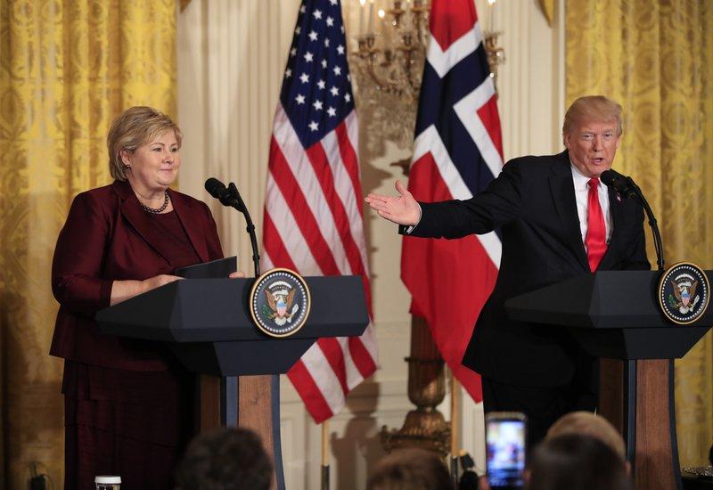 Donald Trump, Erna Solberg