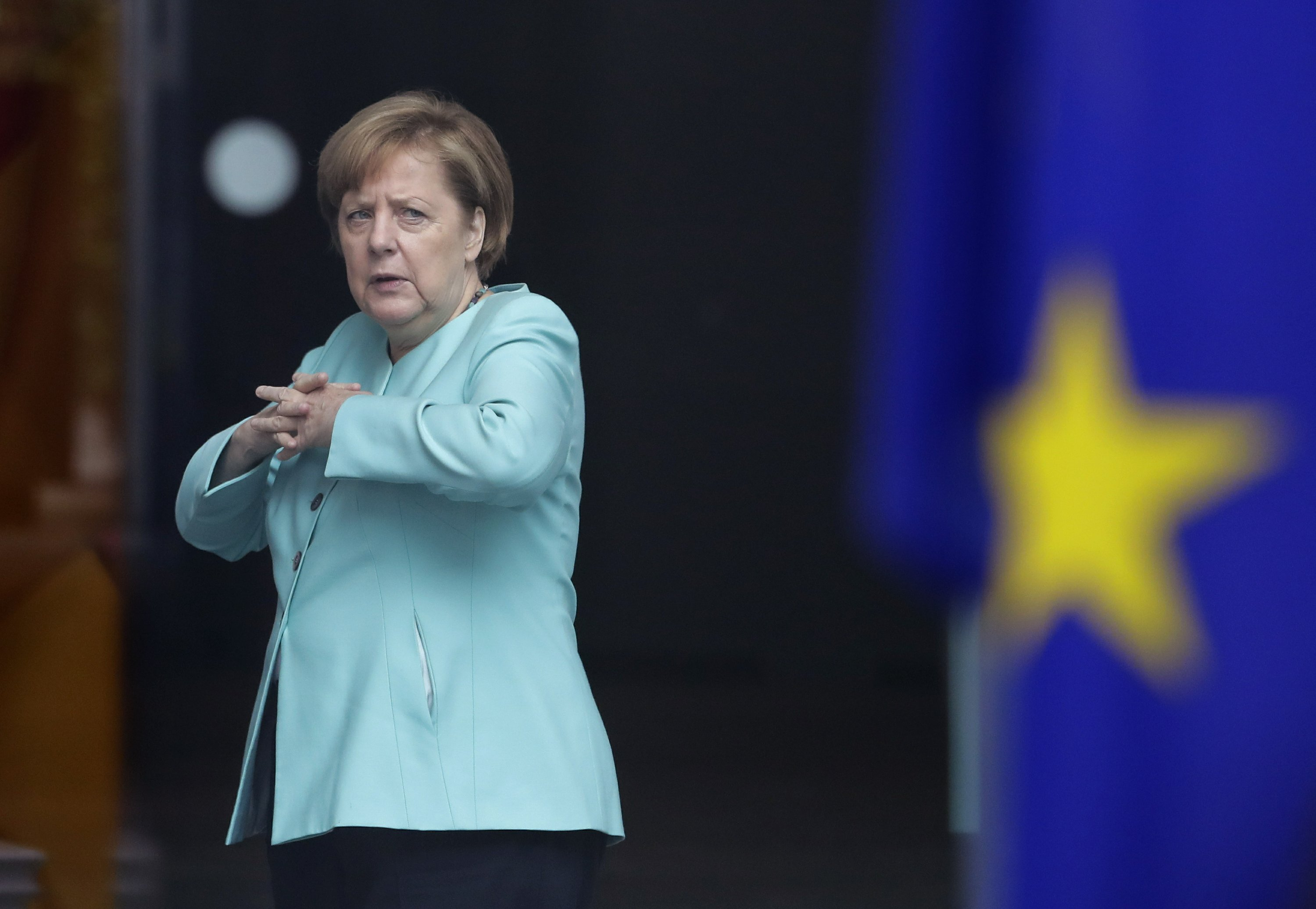 Merkel stands by suggestion Europe can't rely fully on US