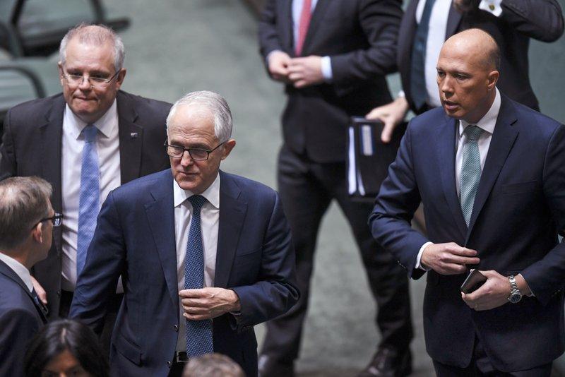 Scott Morrison, Malcolm Turnbull, Peter Dutton,