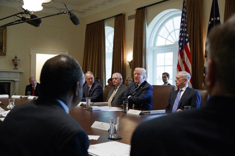 Donald Trump, Dan Coats, Ryan Zinke, Jim Mattis, Rex Tillerson