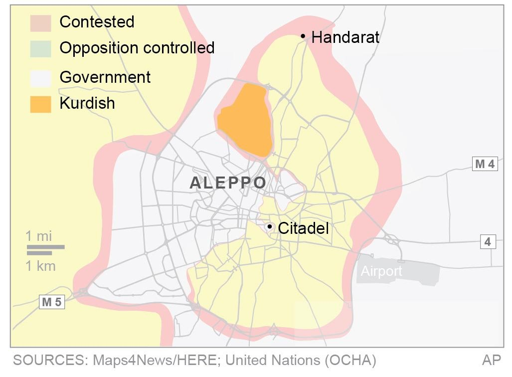 Syrian military calls on Aleppo rebels to surrender