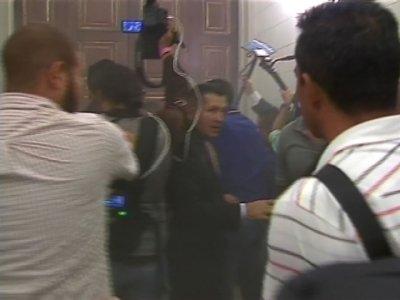 Raw: Venezuelan Lawmakers Attacked