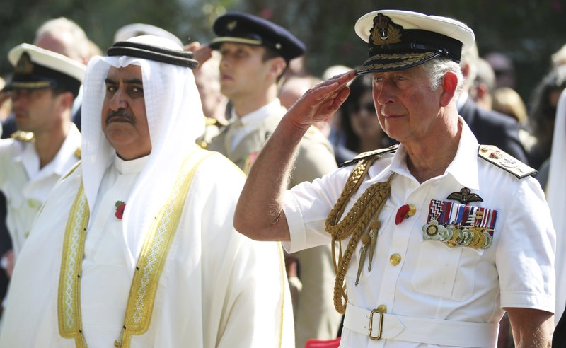 Khalid bin Ahmed Al Khalifa, Prince Charles