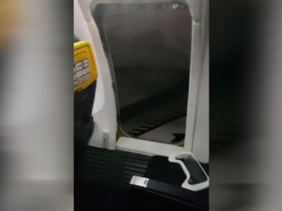 Angry Passenger Leaves Plane By Emergency Exit
