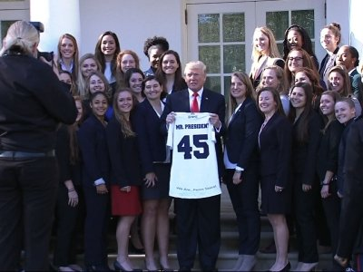 Trump Welcomes College Sports Champions To WH