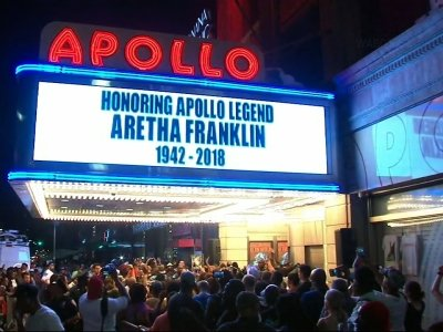 Aretha Franklin Honored Outside Apollo Theater