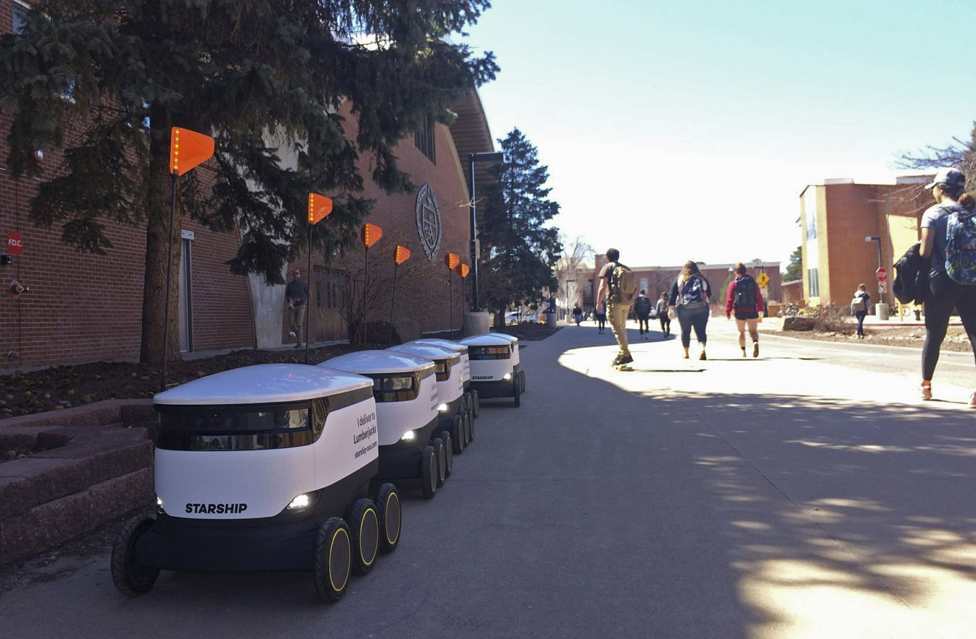 Arizona campus sees fleet of food delivery robots