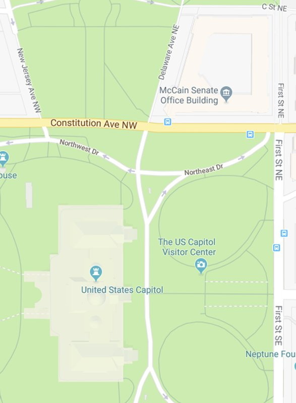 Google Maps mistakenly shows \'McCain Senate Office Building\'