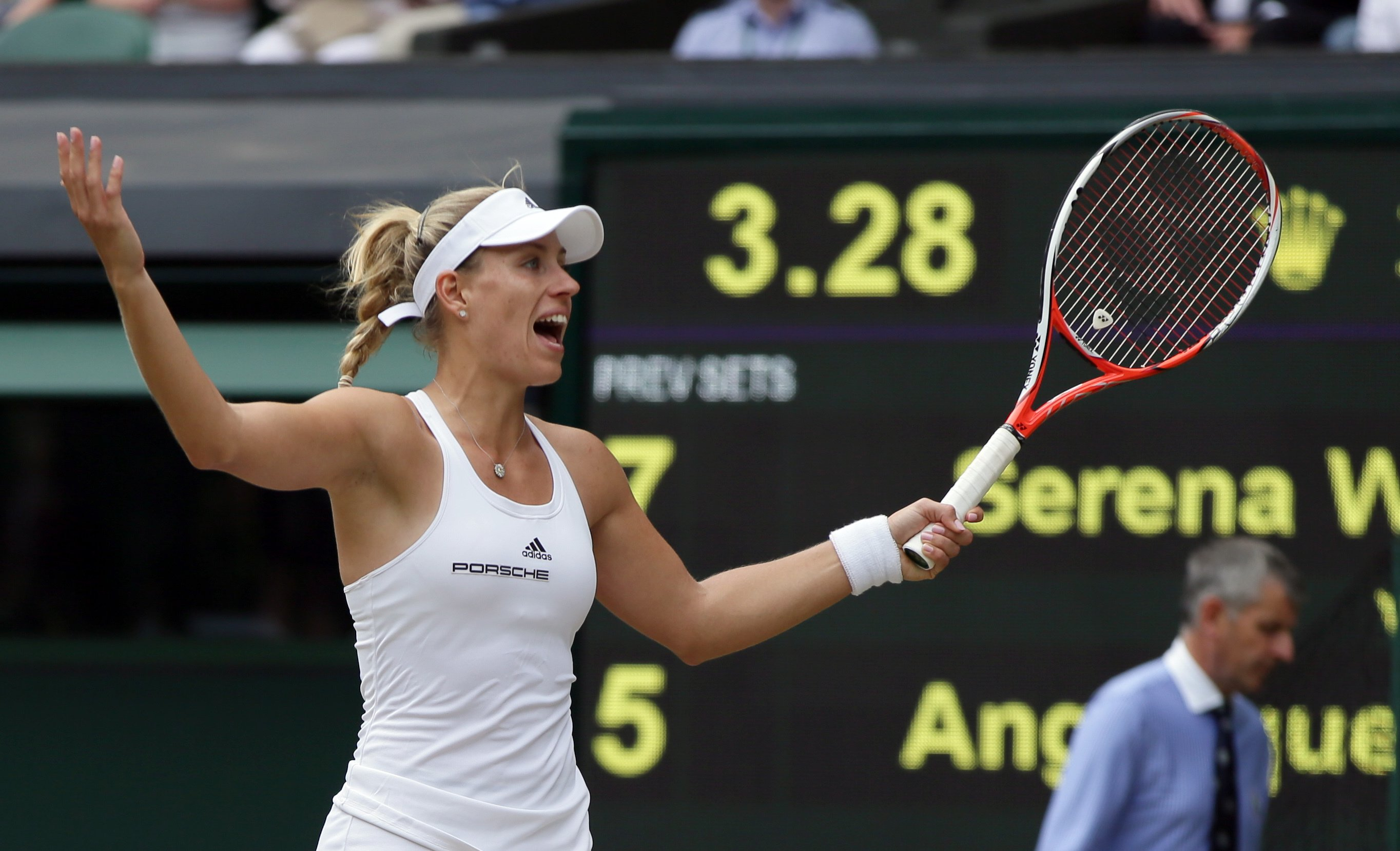 Kerber holds her own in Wimbledon final against Williams