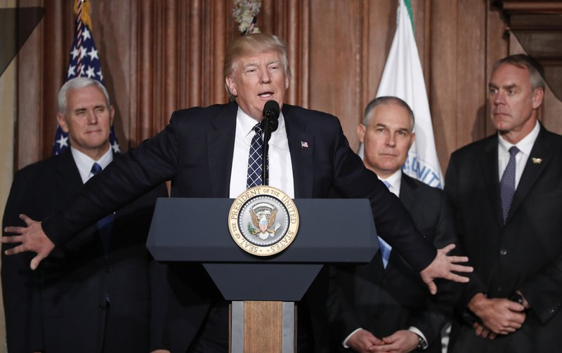 Donald Trump, Scott Pruitt, Mike Pence, Rick Perry, Ryan Zinke
