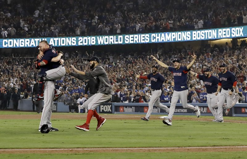 c4ac2d72c Red Sox top Dodgers for 4th World Series title in 15 seasons