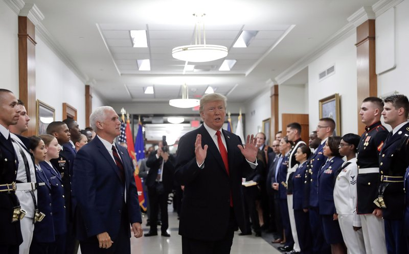 Donald Trump, Mike Pence, Jim Mattis
