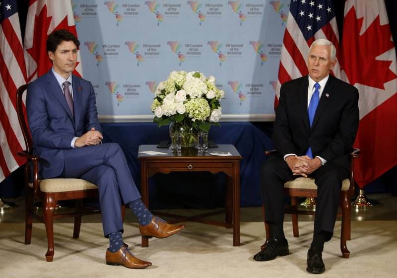 Mike Pence, Justin Trudeau