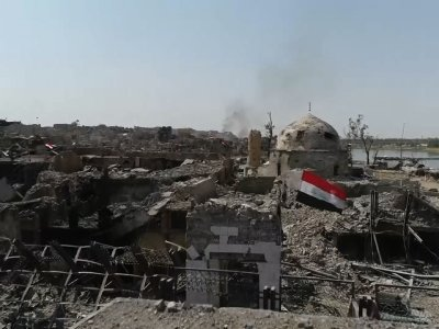 Drone Video Shows Mosul Destruction, Airstrikes