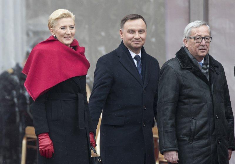 Jean-Claude Juncker, Andrzej Duda, Agata Kornhauser-Duda