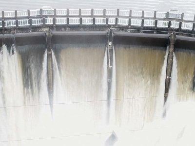 Aerial Footage of North Carolina Dam