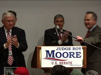 Roy Moore Not Yet Conceding in AL Senate Race