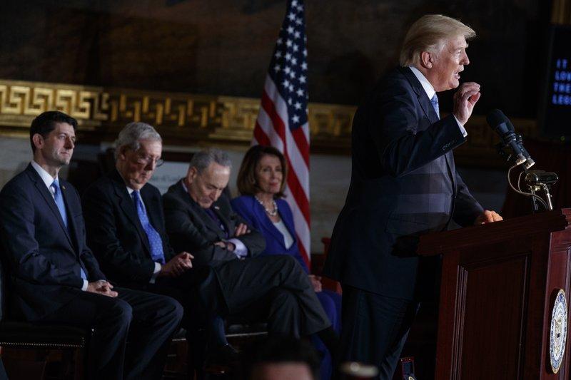 Donald Trump, Paul Ryan, Mitch McConnell, Nancy Pelosi