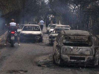 Raw: Wildfires in Greece Kill Dozens