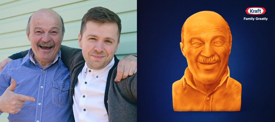 This Father's Day, Get Your Dad the Cheesiest Gift of Them All – a Kraft Cheese Sculpture of Himself