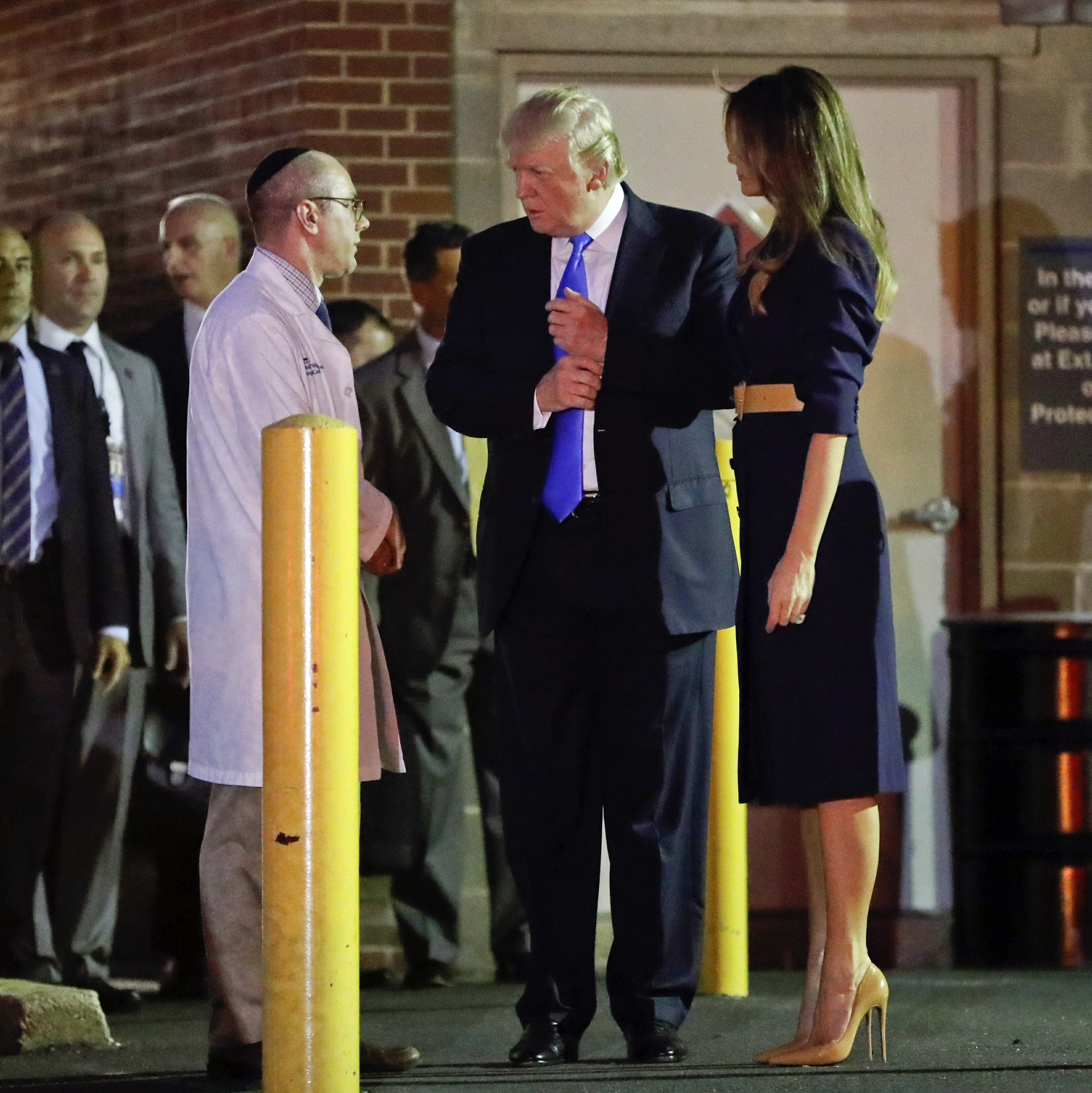 The Latest: Trump sits by wounded Scalise's bedside