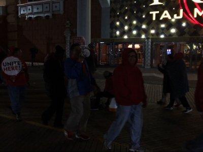 Workers Protest Trump Taj Mahal Casino Closing