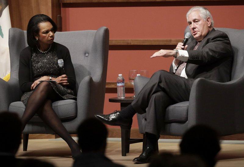 Rex Tillerson, Condoleeza Rice