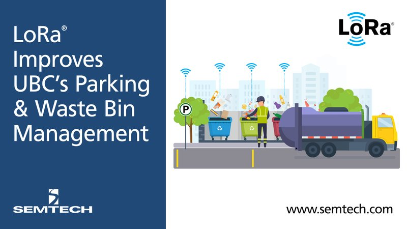 Semtech's LoRa Technology Improves Canadian University's Parking Congestion and Waste Management System