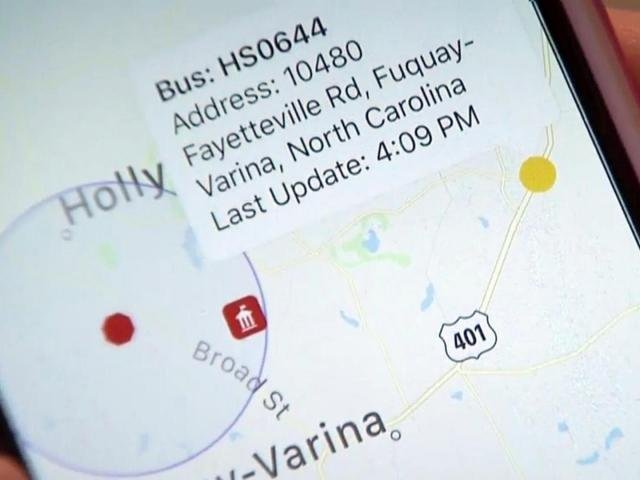 Check your smartphone to find out when the school bus is coming