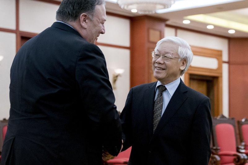Mike Pompeo, Nguyen Phu Trong