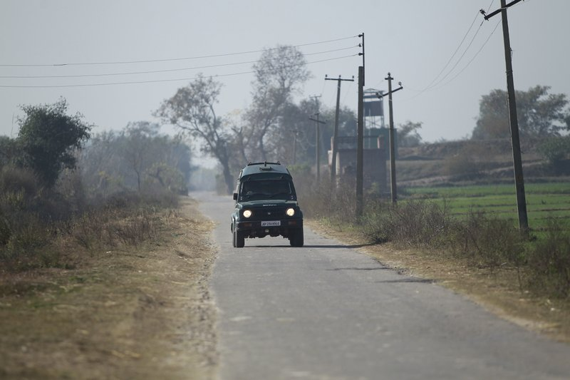 An Indian border security vehicle rescues civilians injured following shelling from the Pakistan side of the border, in Ranbir Singh Pura district of Jammu and Kashmir, India, Friday, Jan.19, 2018. Tensions soared along the volatile frontier between India and Pakistan in the disputed Himalayan region of Kashmir as soldiers of the rivals continued shelling villages and border posts for third day Friday.