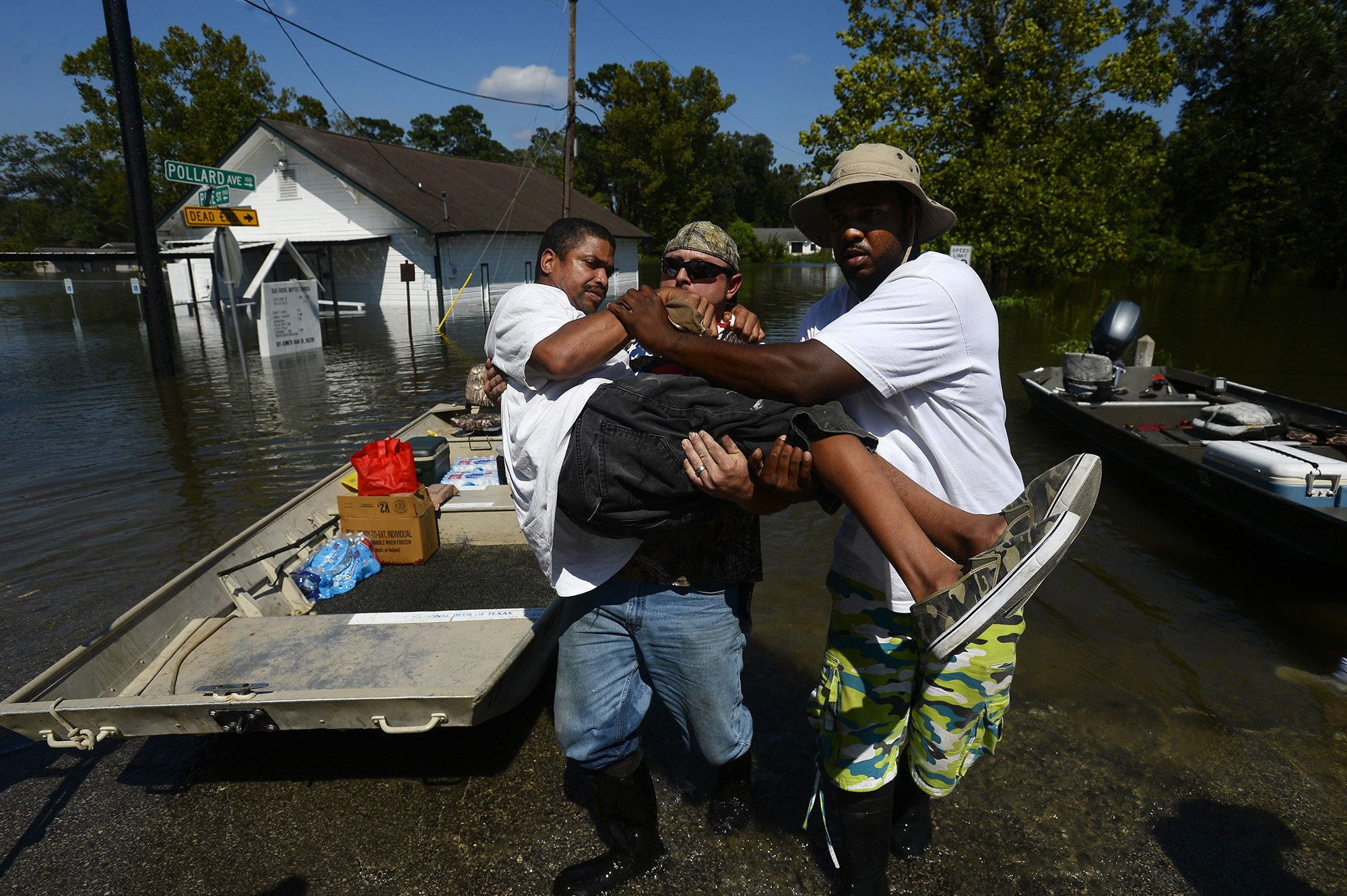 Houston tries to safeguard some areas by flooding others