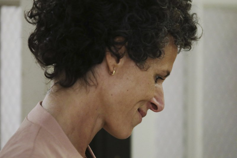 Andrea Constand, key witness in the case against actor and comedian Bill Cosby, arrives to resume her testimony on the sixth day of Cosby's sexual assault retrial at the Montgomery County Courthouse in Norristown, Pennsylvania
