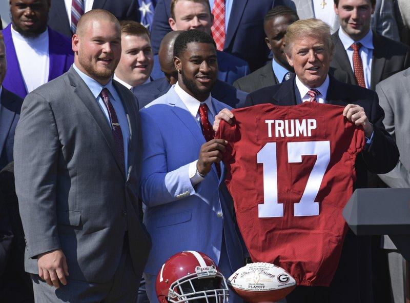 Donald Trump, Rashaan Evans, Bradley Bozeman