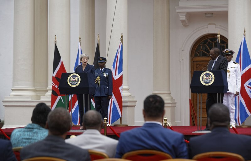 Theresa May, Uhuru Kenyatta