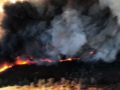Helmet Cam Captures California Wildfires