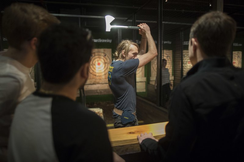 Ax throwing gains in popularity