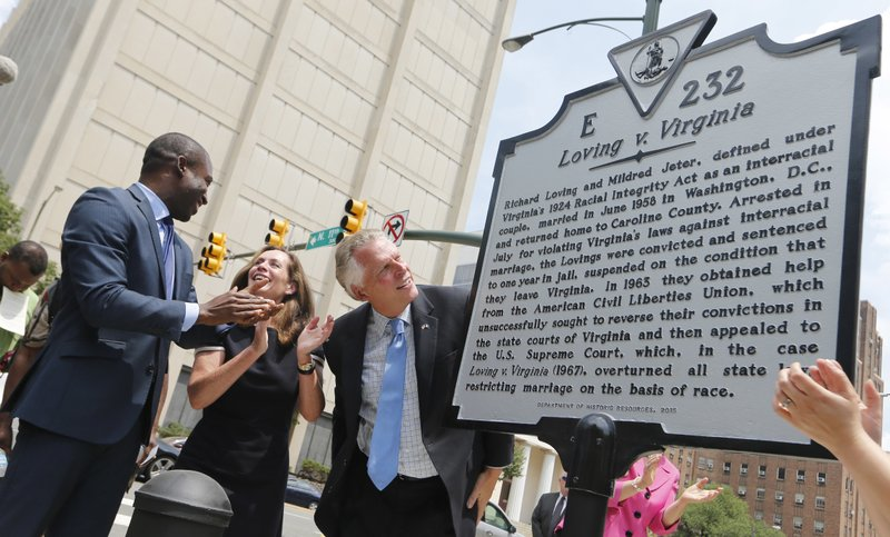 The Latest: Marker honors interracial couple who changed law