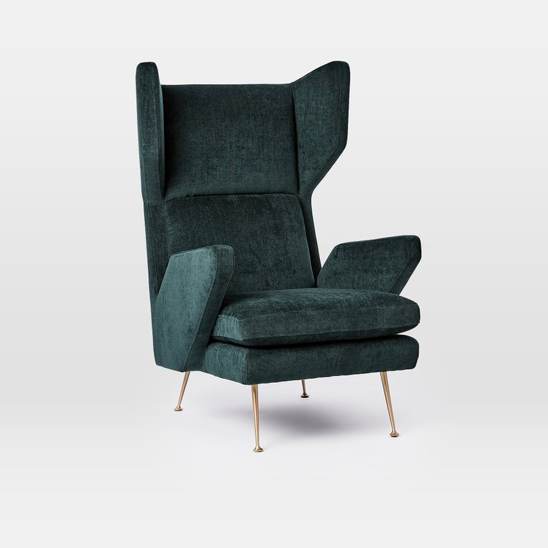 This Undated Photo Shows West Elm S Marcelle Wing Chair Which Is A Modern Iteration Of The Classic Via Ap