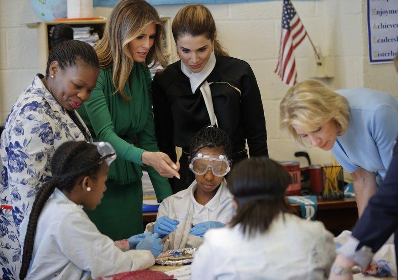 Neil Gorsuch, Melania Trump, Queen Rania, Betsy DeVos, Dana Bogle