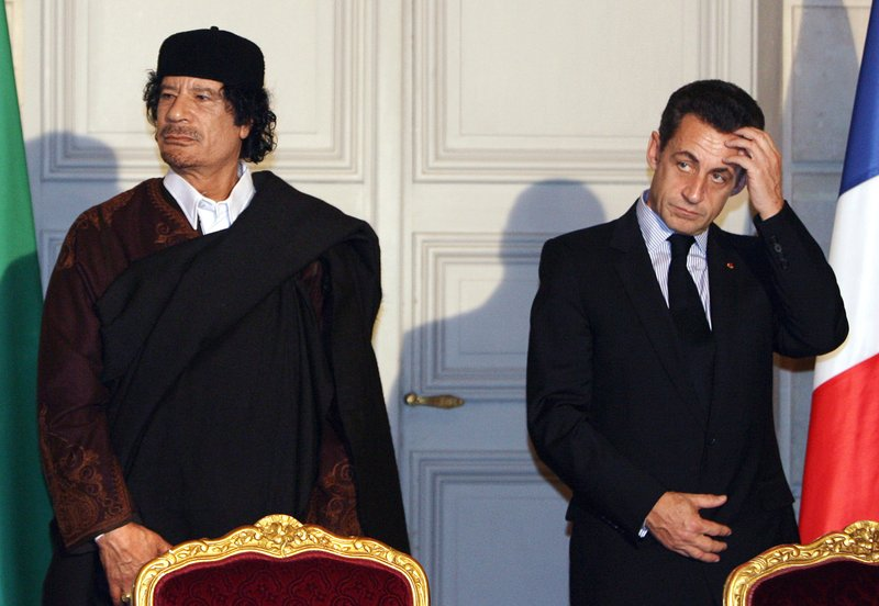 Moammar Gadhafi, Nicolas Sarkozy