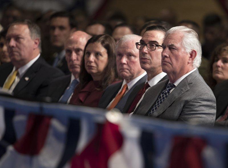 Rex Tillerson, Steven Mnuchin, Jeff Sessions
