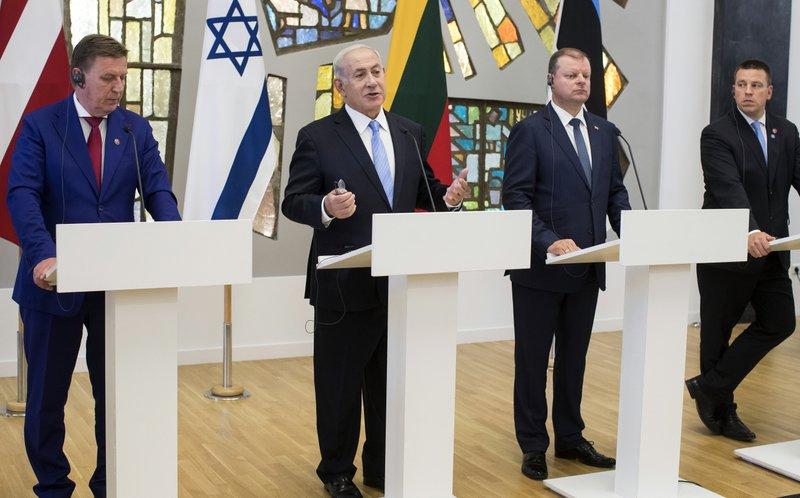 Saulius Skvernelis, Benjamin Netanyahu, Maris Kucinskis, Juri Ratas