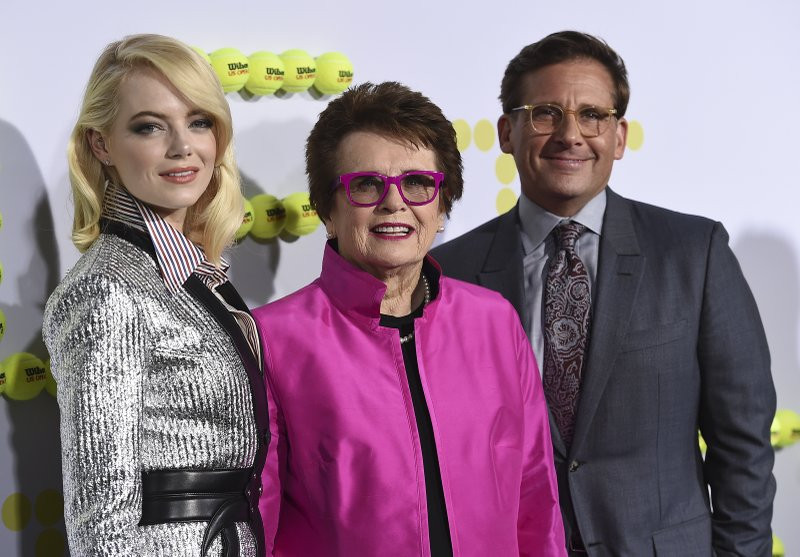 Emma Stone, Billie Jean King, Steve Carell