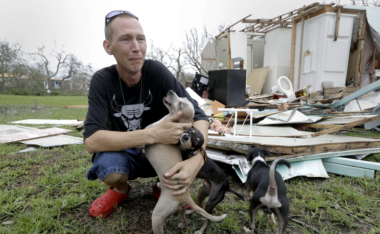 Sam Speights' desperate effort to stay alive during Harvey
