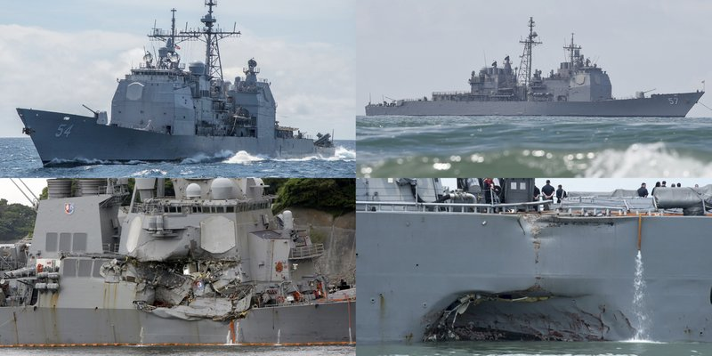 USS McCain crash is 4th Navy accident in Pacific this year