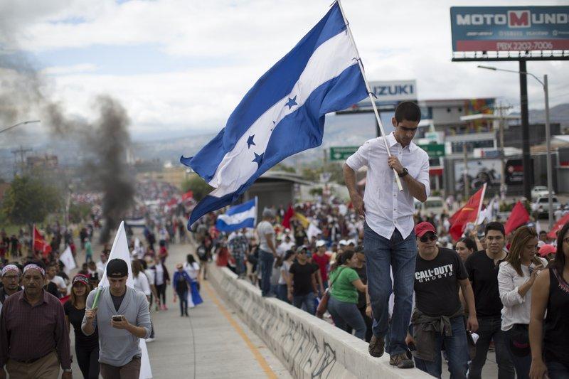 Image result for Honduras opposition calls for 'uprising' against Hernandez
