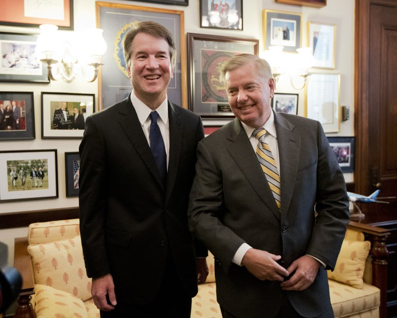 Brett Kavanaugh, Lindsey Graham, Donald Trump