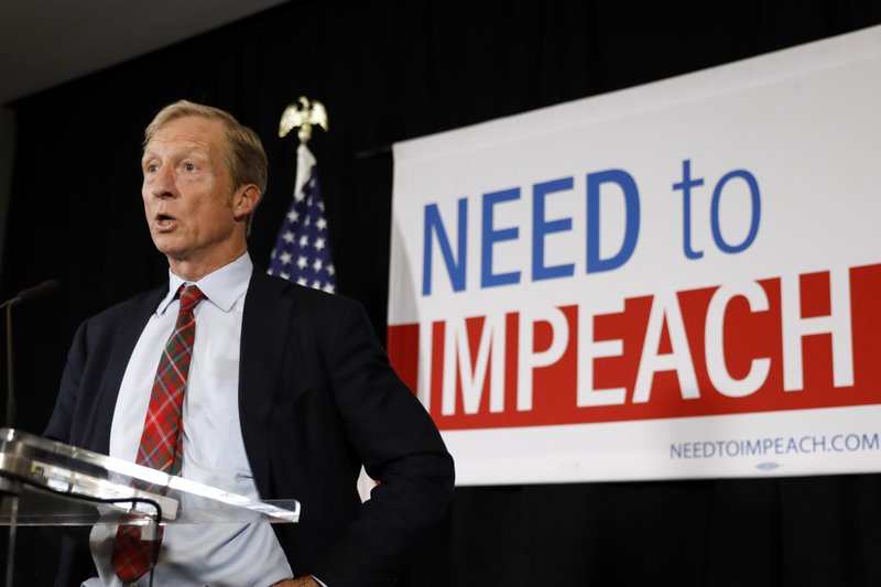 Trump Wants To Spend Millions More On >> Steyer To Put More Millions Into Impeachment Not A Campaign